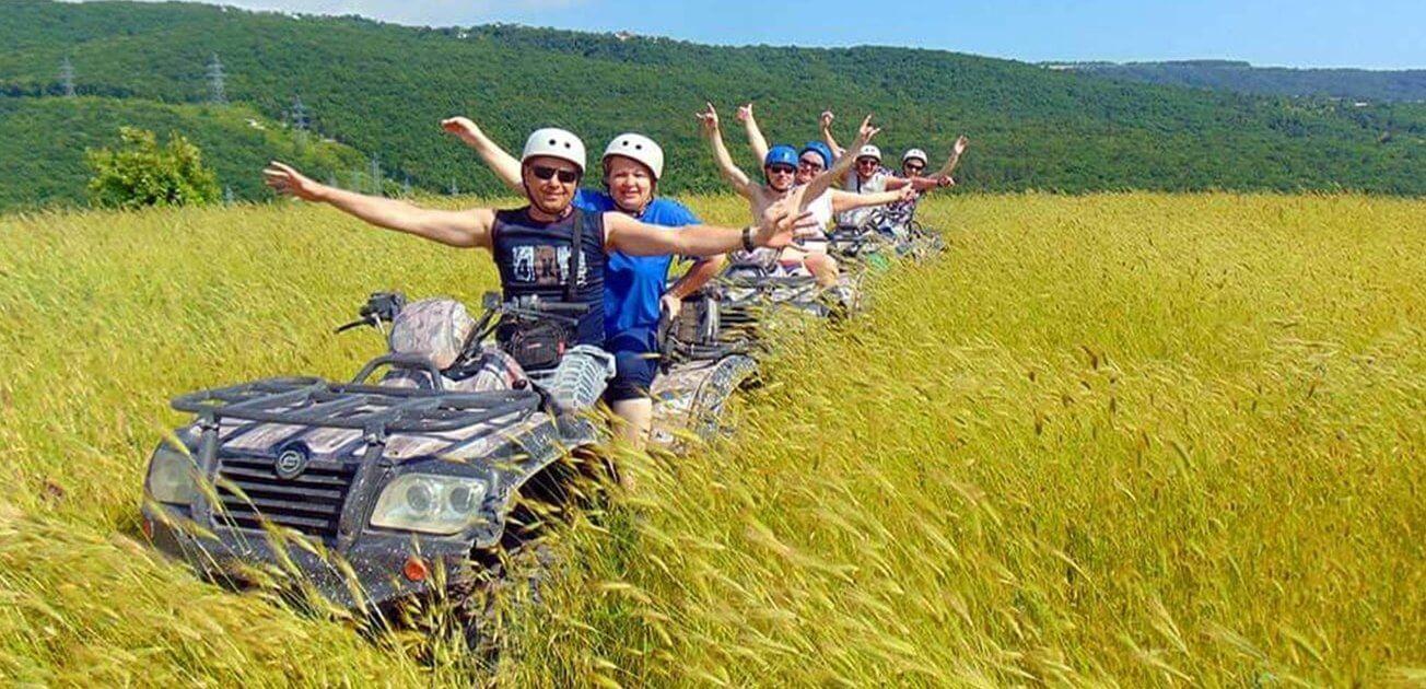 Прогулка на квадроциклах в Геленджике 2 - Топовые развлечения на курортах Кубани